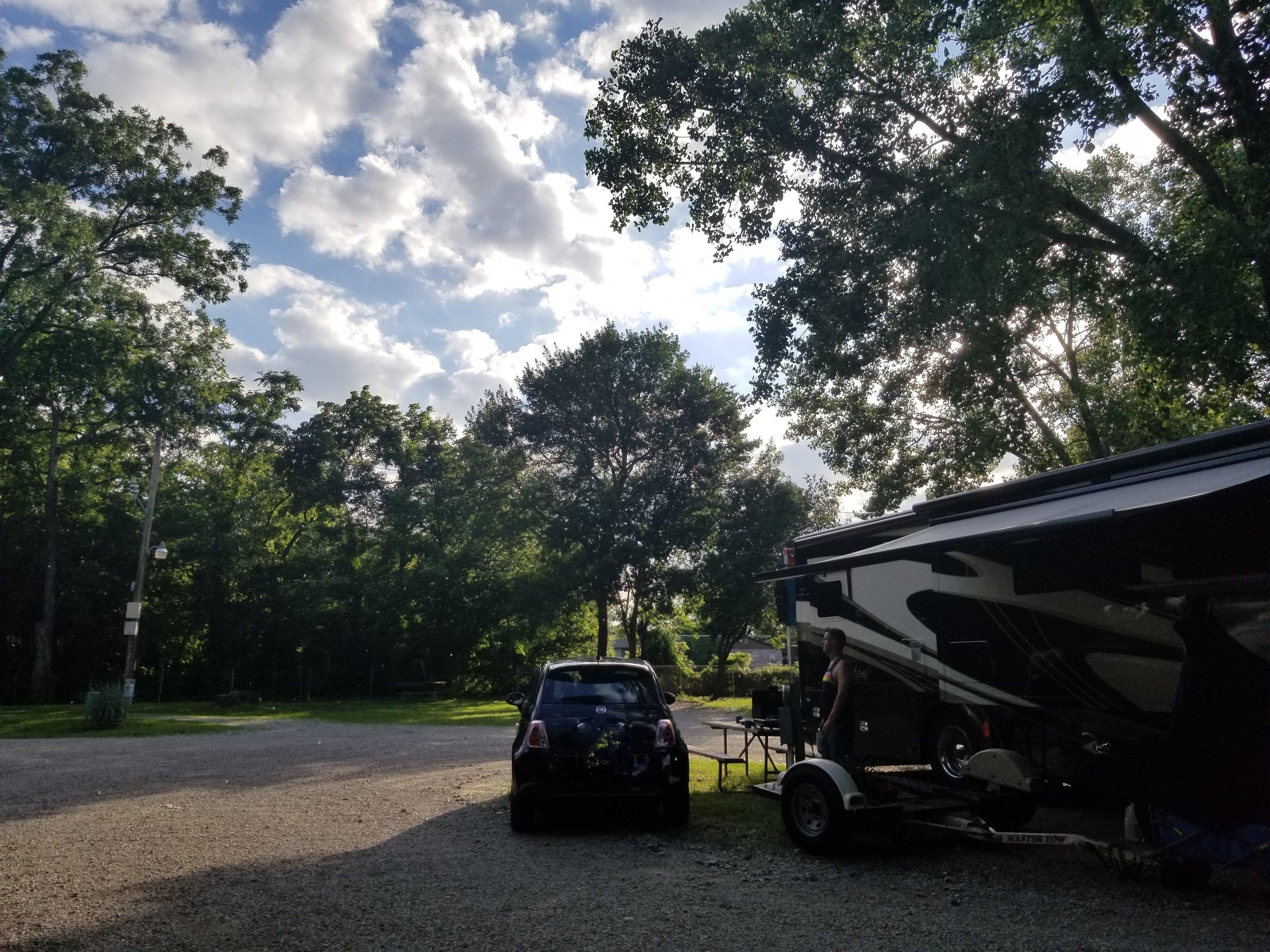 Our spot at Riverside RV Resort & Campground in Bartlesville, OK