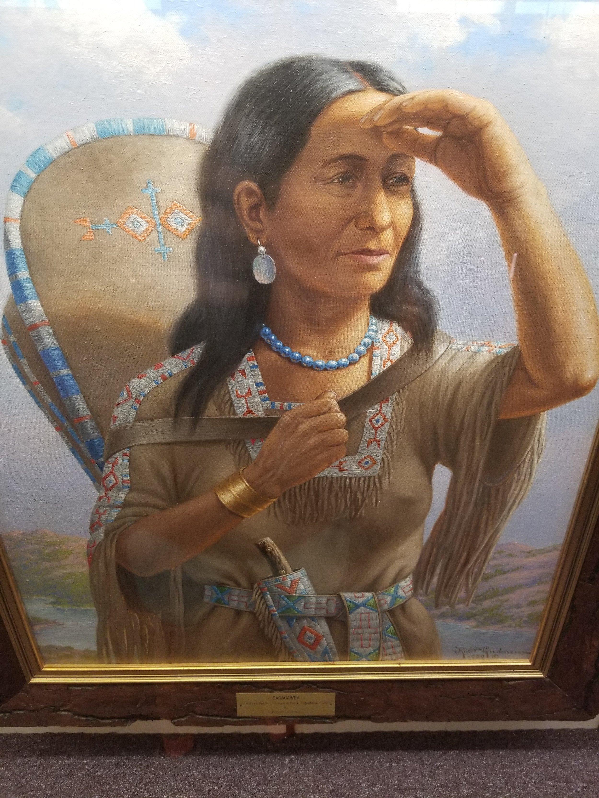 Sagagawea portrait by Robert Lindneux