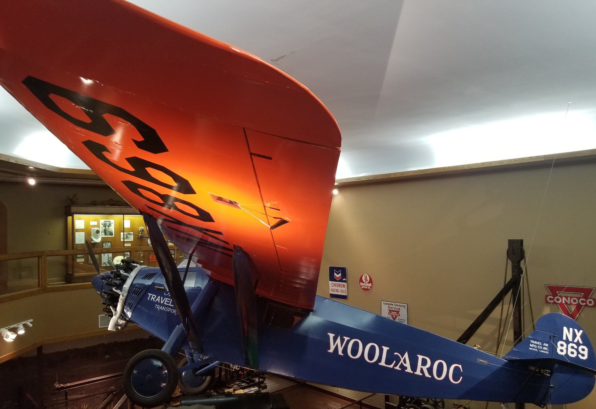 The Type 5000 was the first monoplane built by Travel Air, Inc. Less than thirty were made. This plane is number 10 and the only complete 5000 still in existence. This plane was built for Art Goebel who had entered the Dole Flight, a 2437 mile race from Oakland to Honolulu