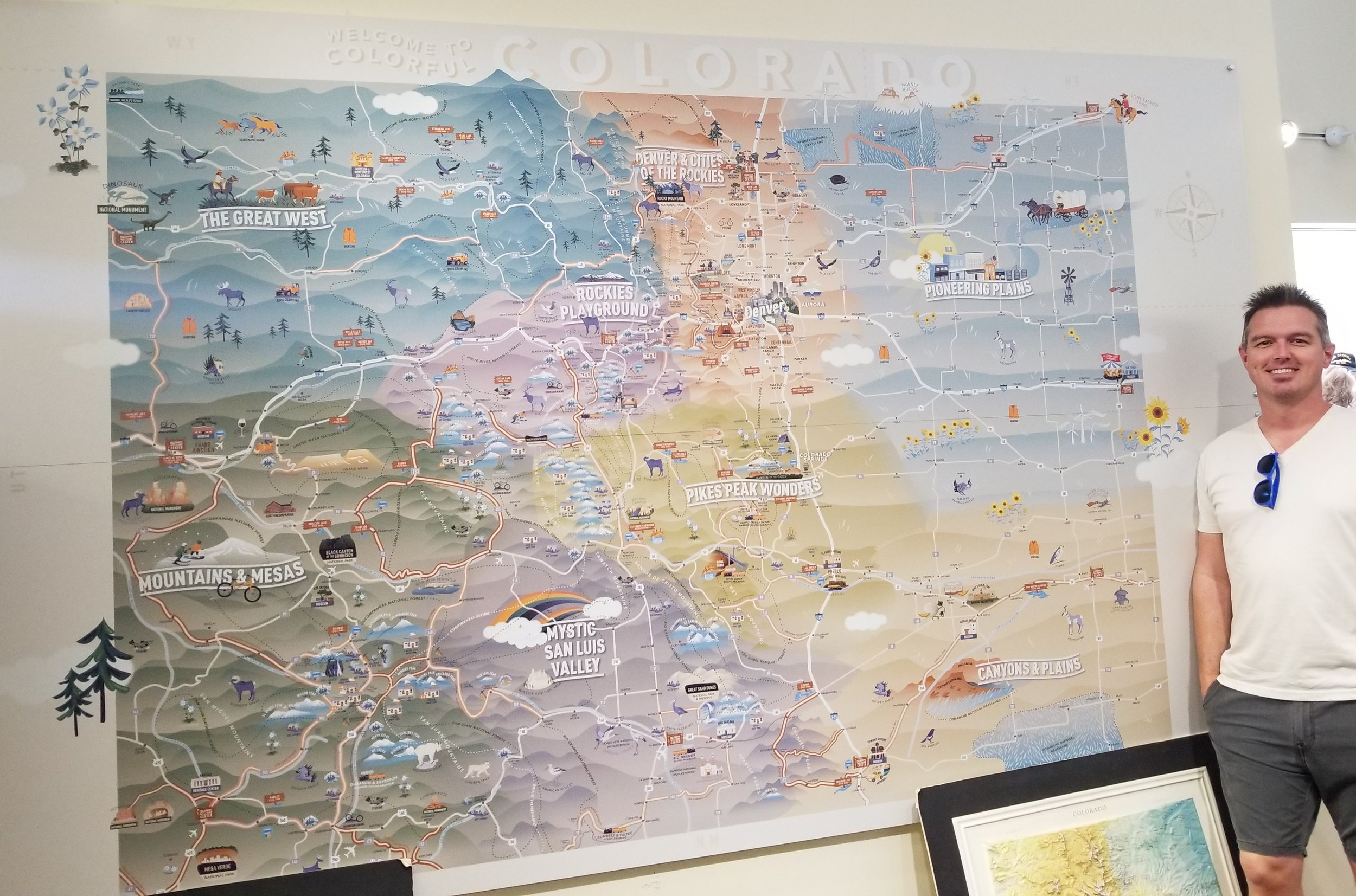 Great map at the Colorado visitor center