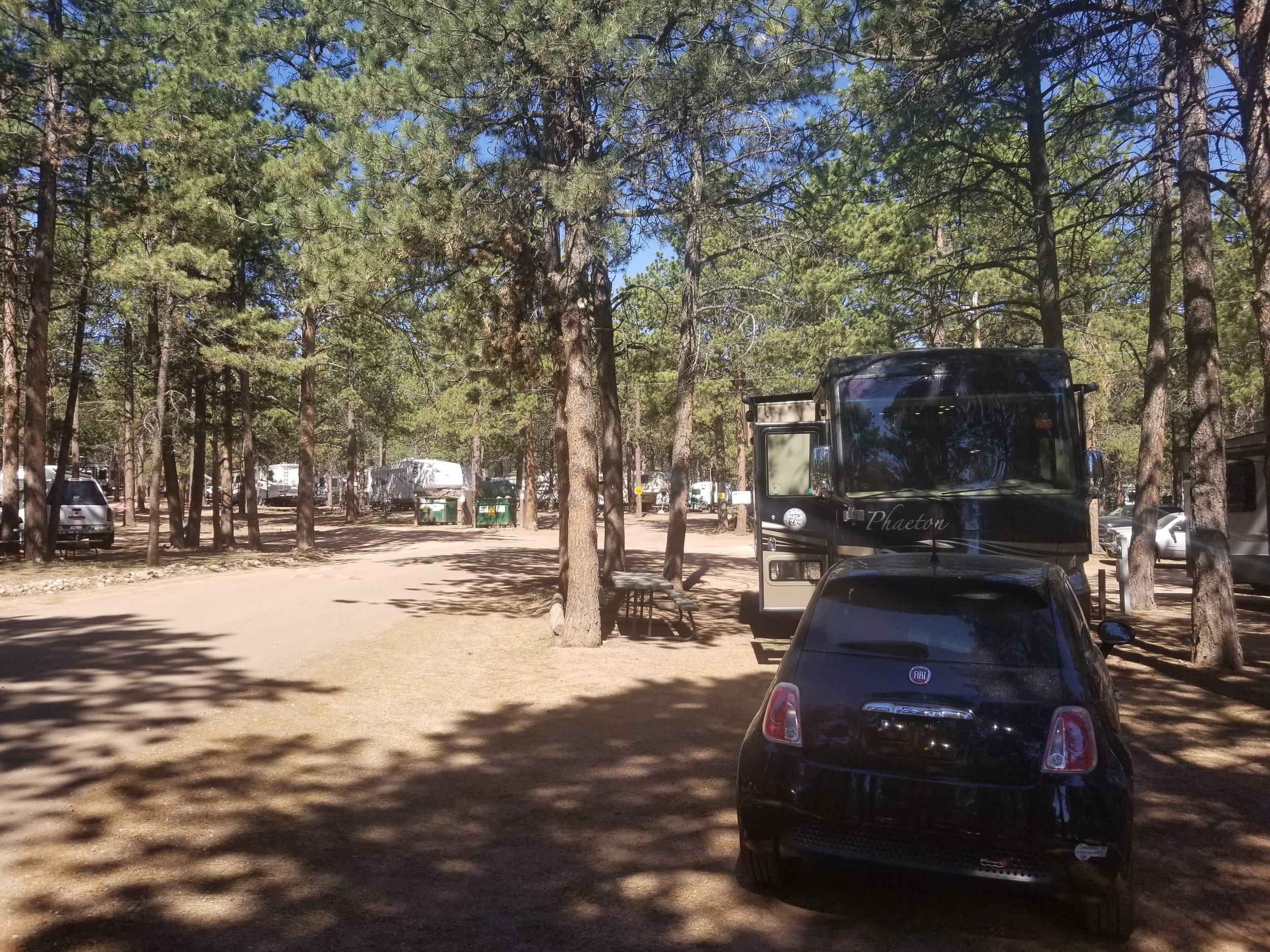 Our spot at Diamond Campground and RV Park