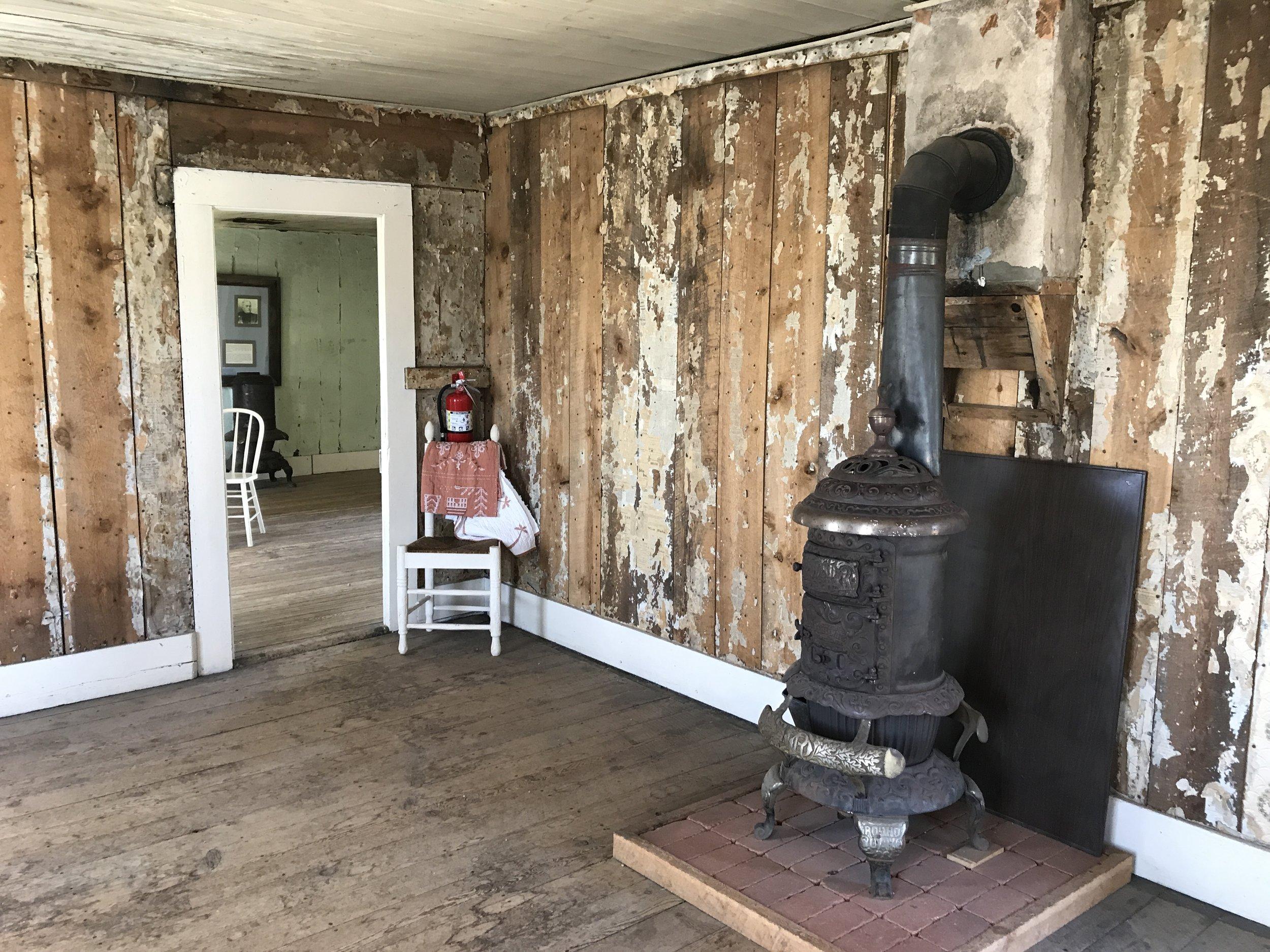 Inside of Adeline's homestead
