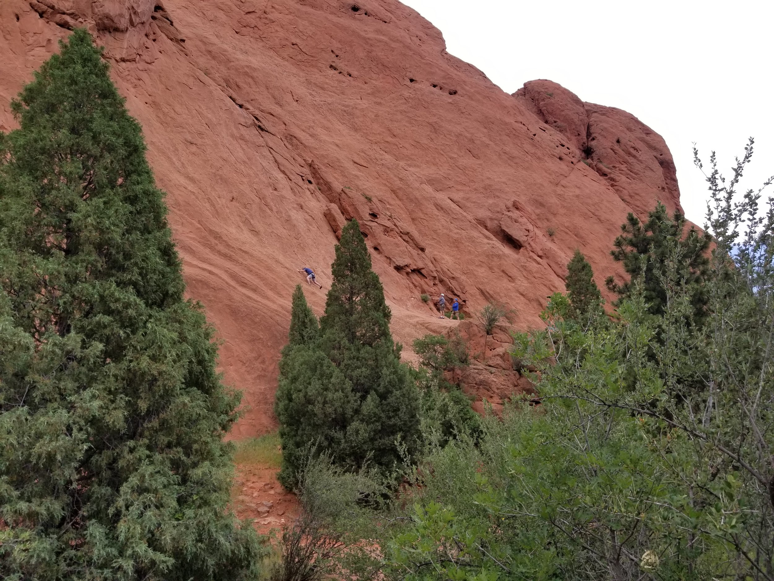 Can you spot the rock climbers?  You had to have a permit and prior training before they would let you up.