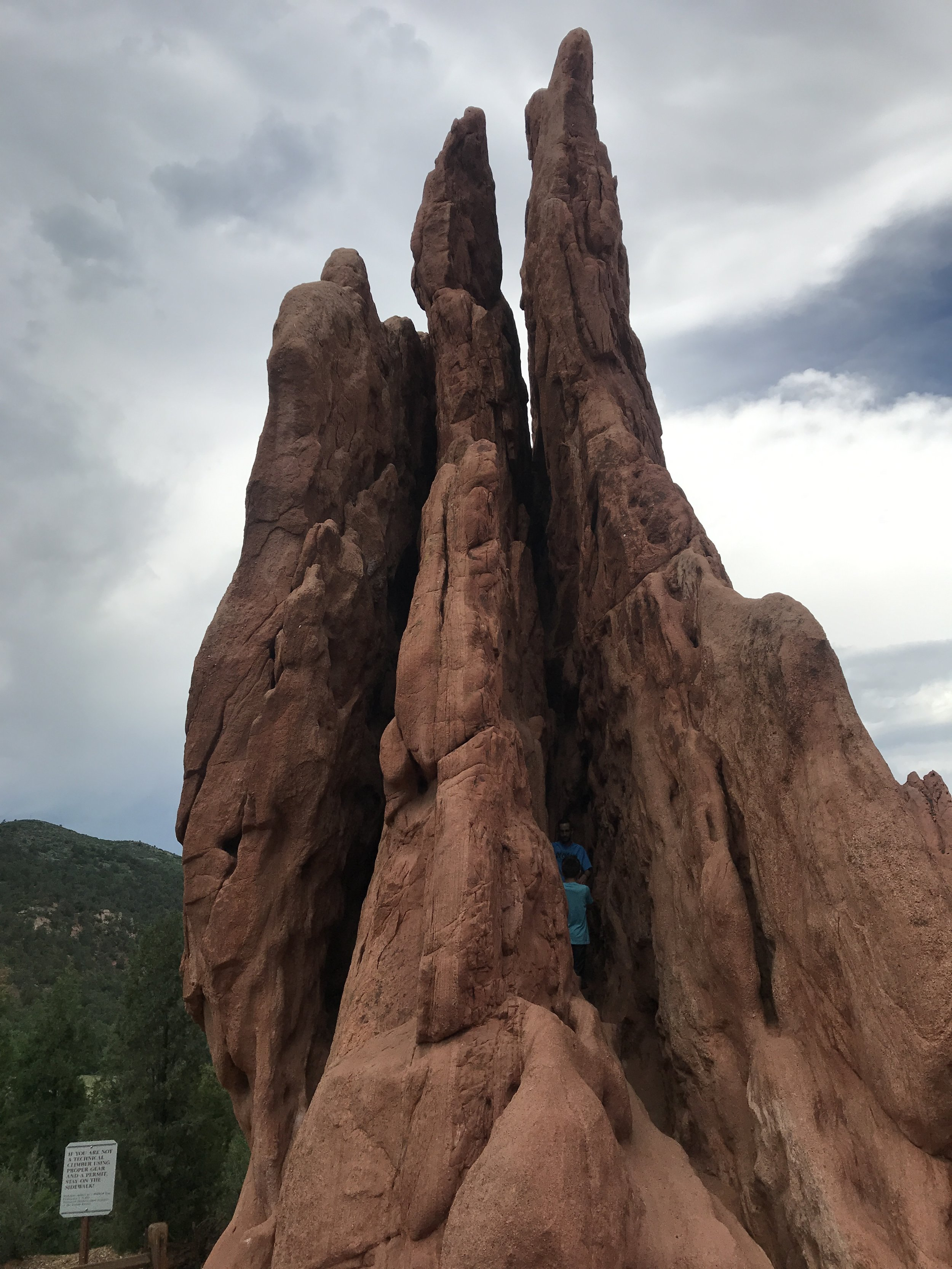 """People were climbing on some of the rocks although the sign in front said """"if you are not a technical climber using proper gear and a permit, stay on the sidewalk"""""""
