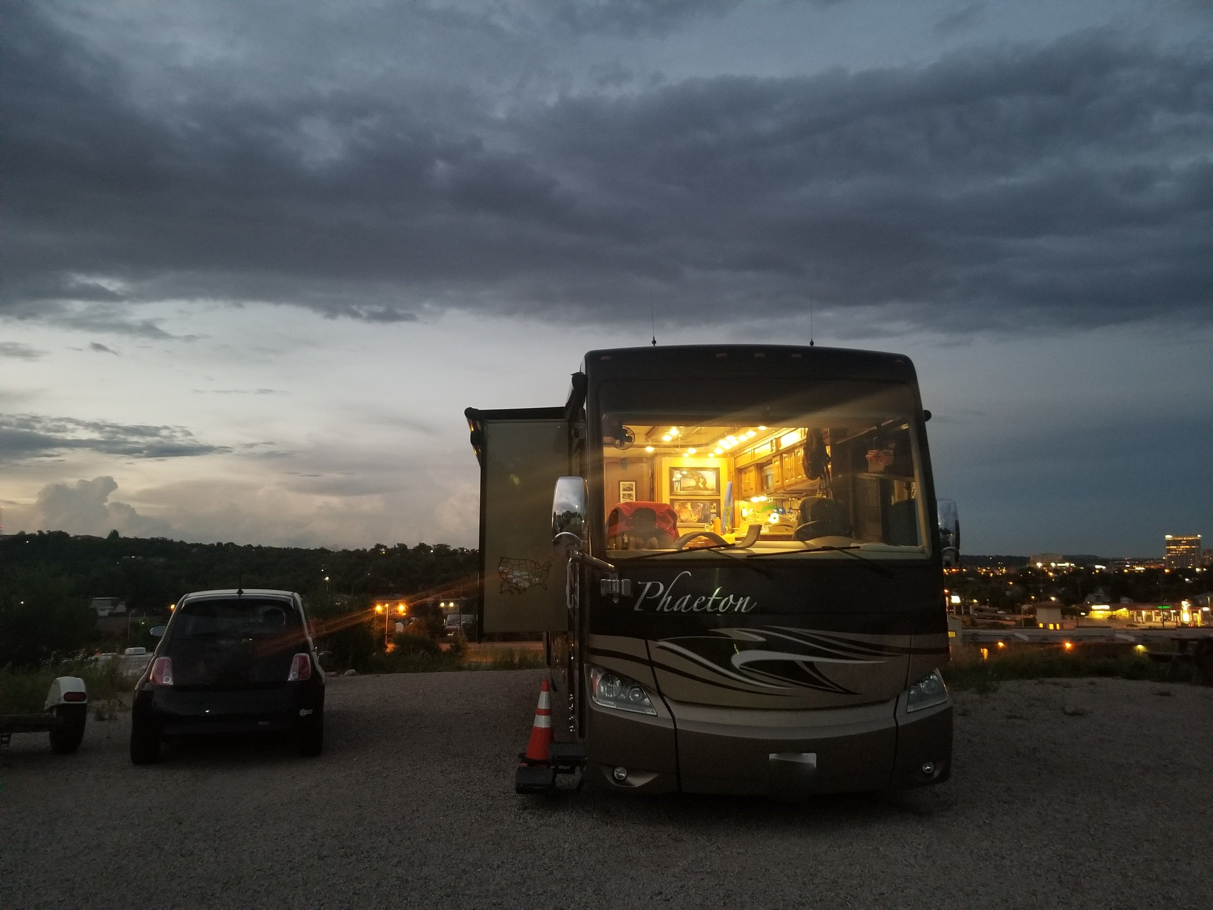 Our spot at the Foot Of The Rockies RV Resort