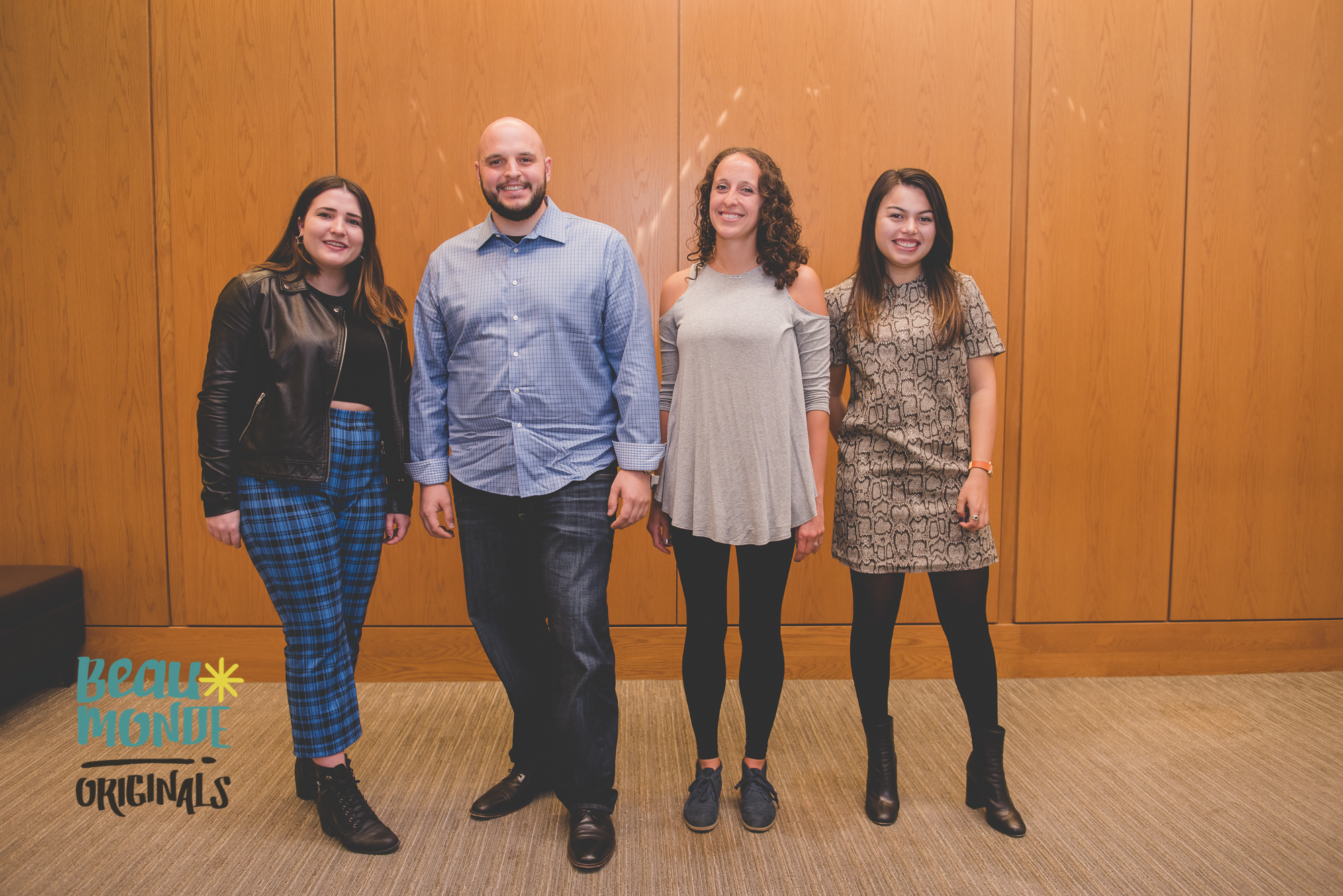 Gabby Frost, CEO of  Buddy Project  (Left); Rachel Gersten, Co Founder of  Viva Wellness  (1st Right); Danielle Mohazab, Founder of  Happy Pill  (Far Right)