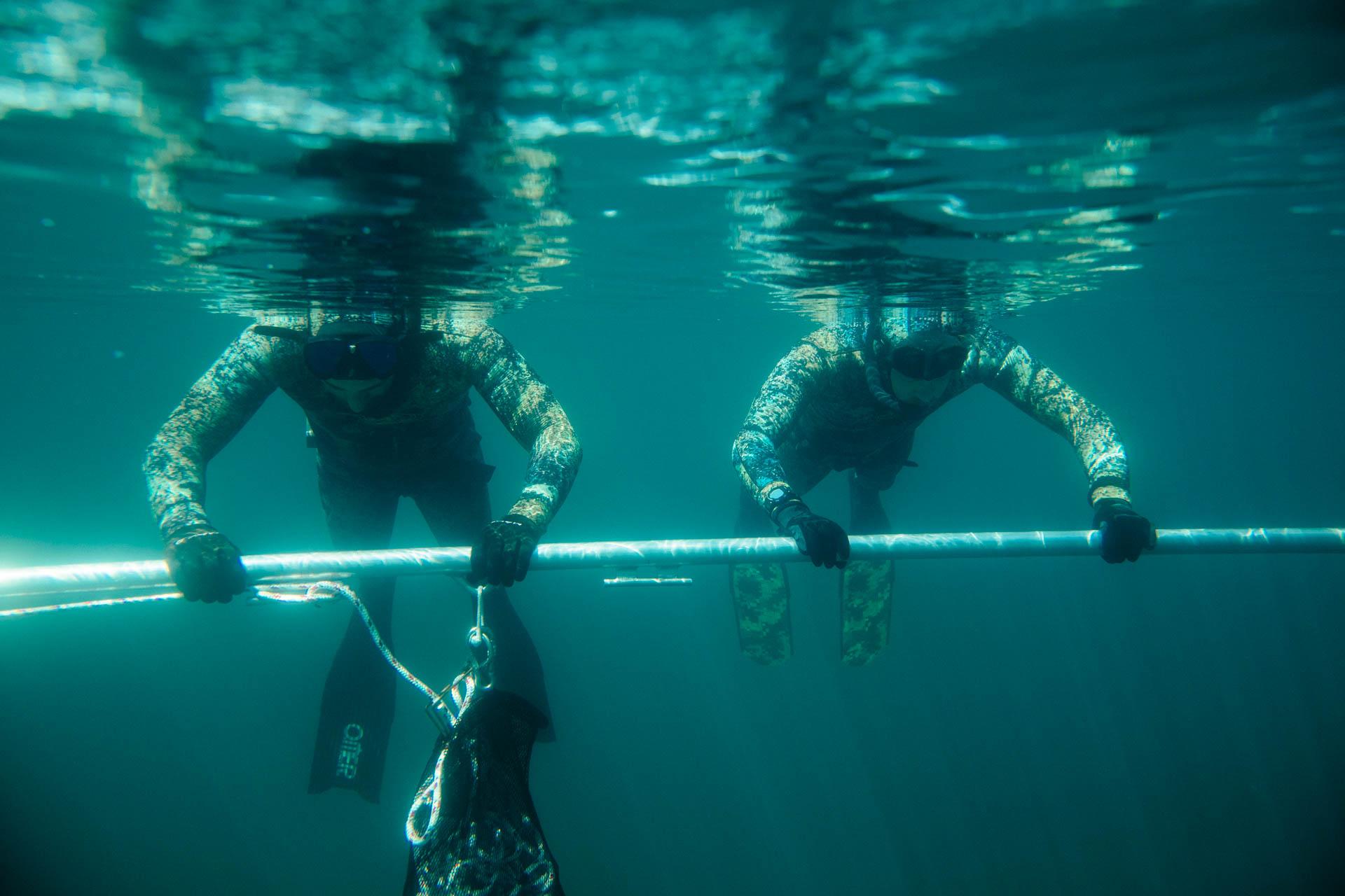 Facial Submersions... Bottom Dwellers Freediving adaptinging the mammalian dive reflex and slowing that heart rate. Photo: Jeremy Koreski