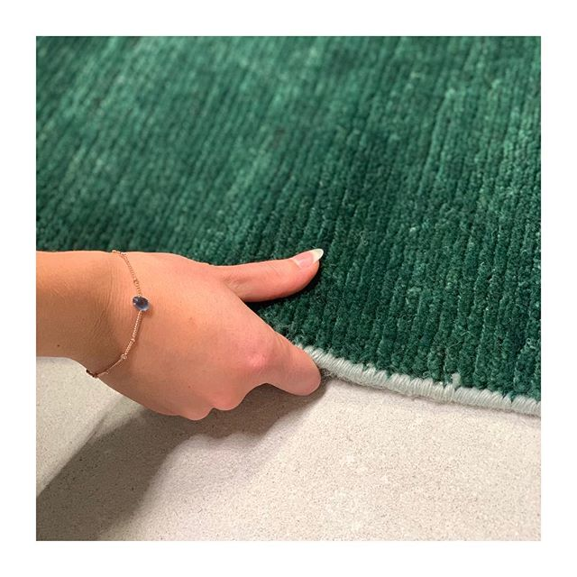 | SOFT TOUCH |  we have fallen in love with this emerald rug