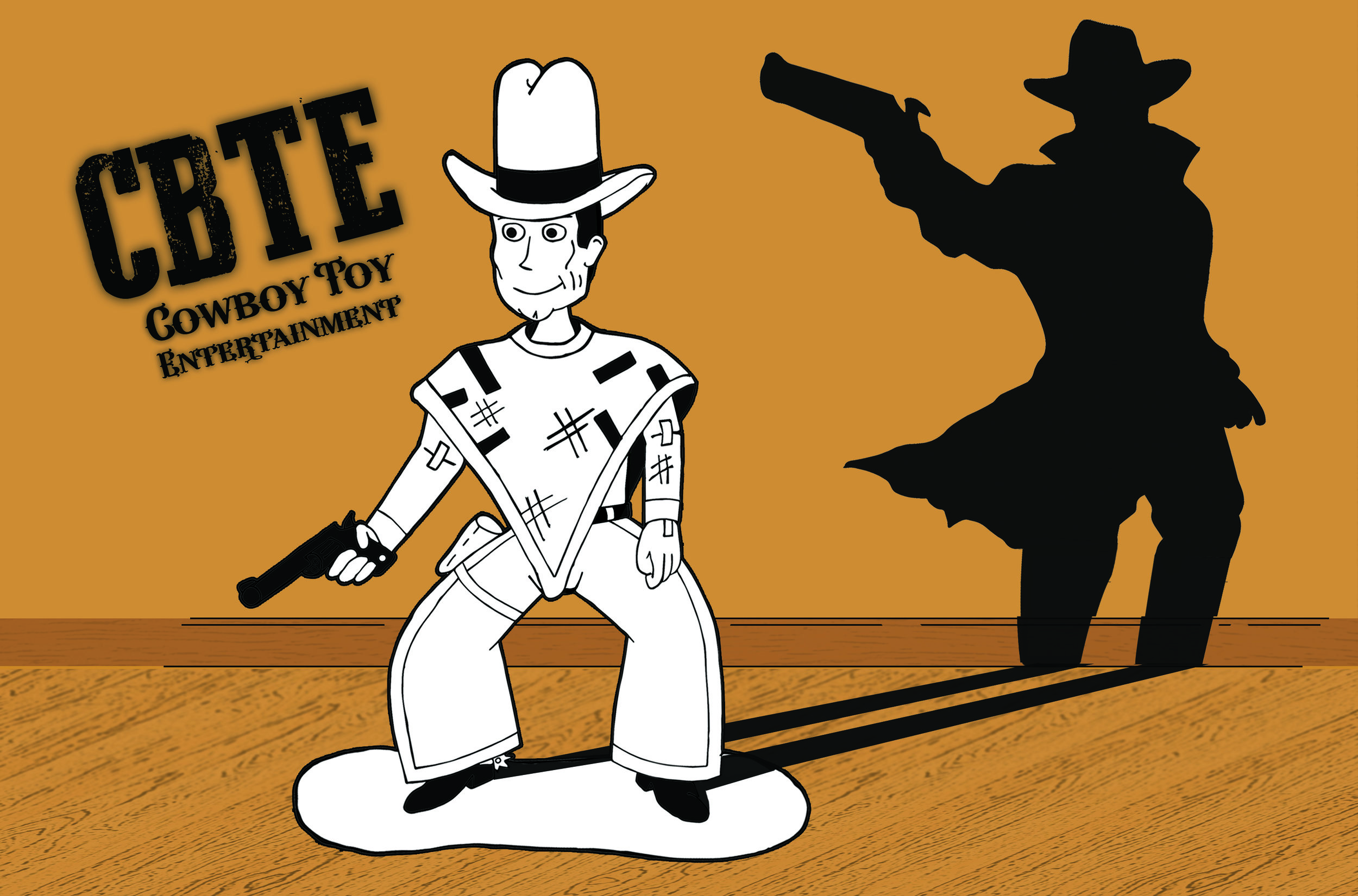 A draft of a Cowboy Toy Logo, which then evolved to became the 'Banner'.