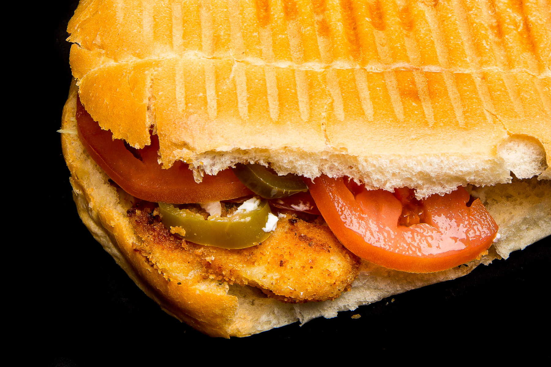 breaded chicken torta (mexican sandwich