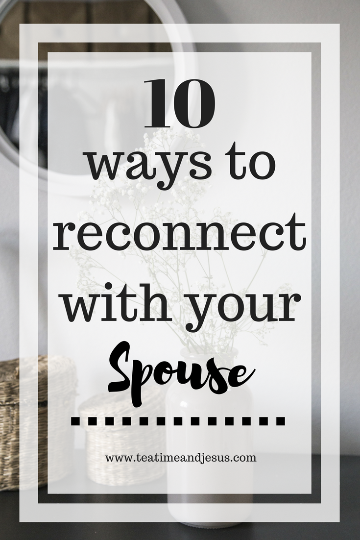 When you are going through a tough season of marriage, it can be so difficult to reconnect. We get used to being distant and sometimes that is hard to overcome. But, if we work hard, we can grow closer together. Check out these 10 ways to reconnect with your spouse.
