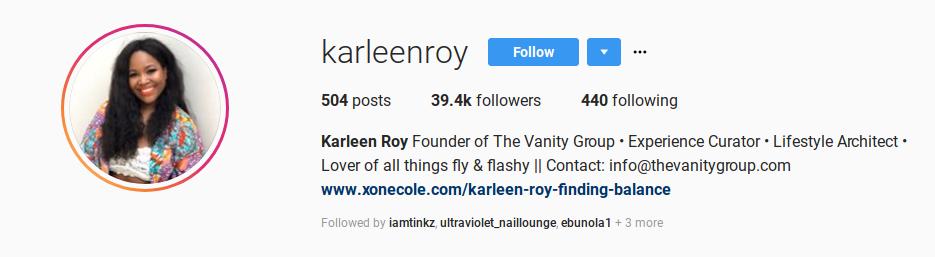 Karleen Roy The Vanity Group
