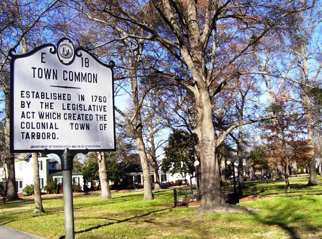The Tarboro Town Common, established with the town in 1760, is a 15-acre park for public use.