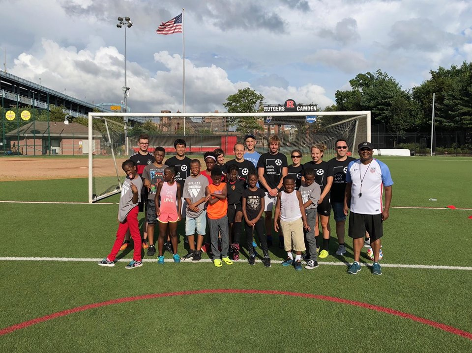 Camden Soccer Festival 2018. First time in Camden at the Rutgers University complex. Great day working with new players and Reverend Floyd White.