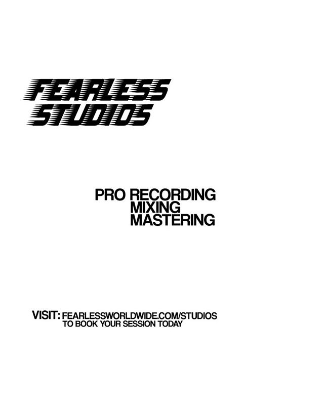 ** Grand Opening Special ** Book one hour of recording and get one free at @fearlessstudios — Visit the link in our bio to book your session today.  This special concludes 5/18.