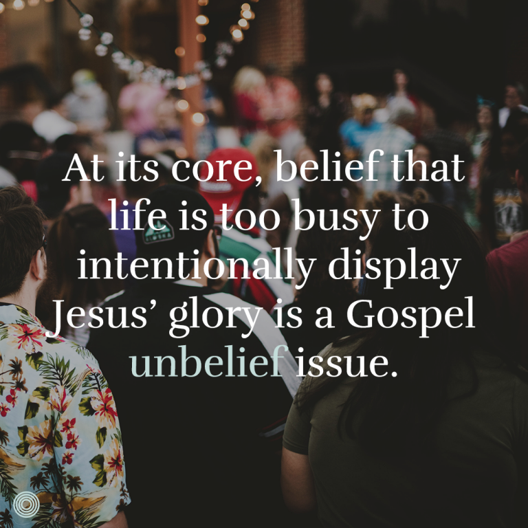 How Missional Community Life Exposes Unbelief - THE SWEETNESS OF THE GOSPEL FOR US