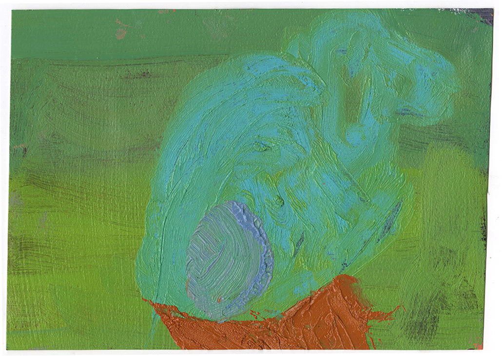 "Dumbo, 2016, oil on paper, 10""x7"""