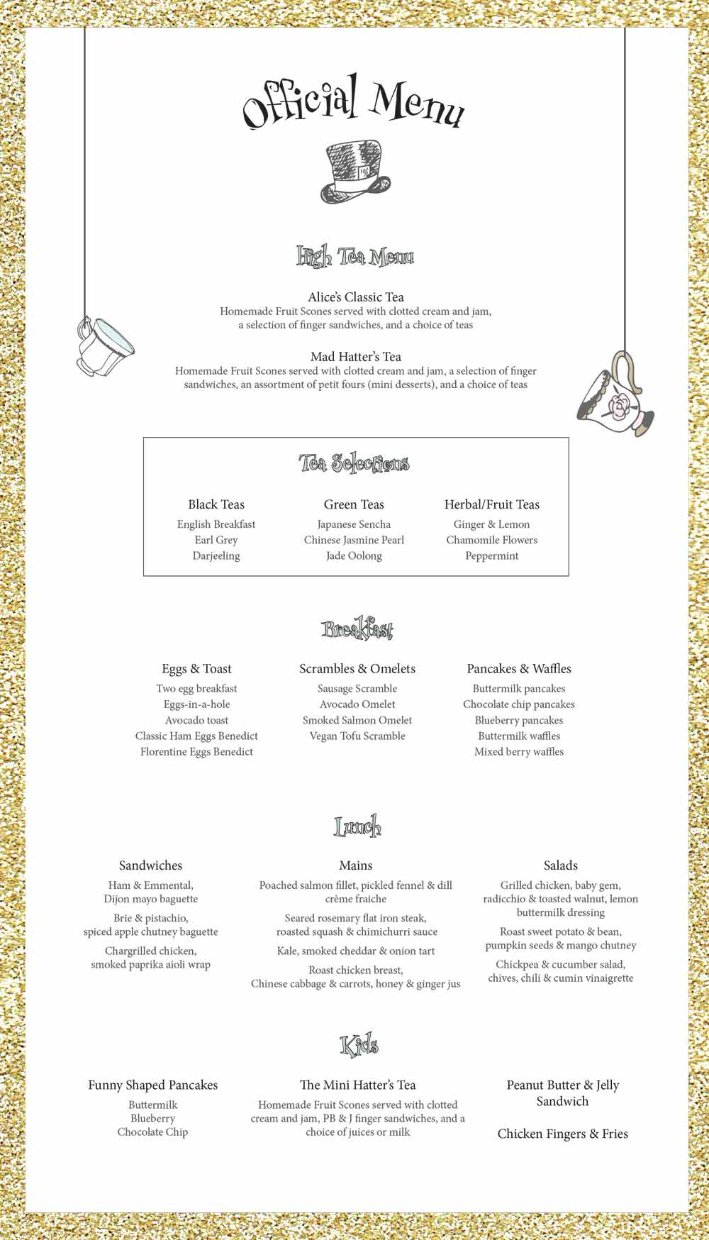 simple scroll menu