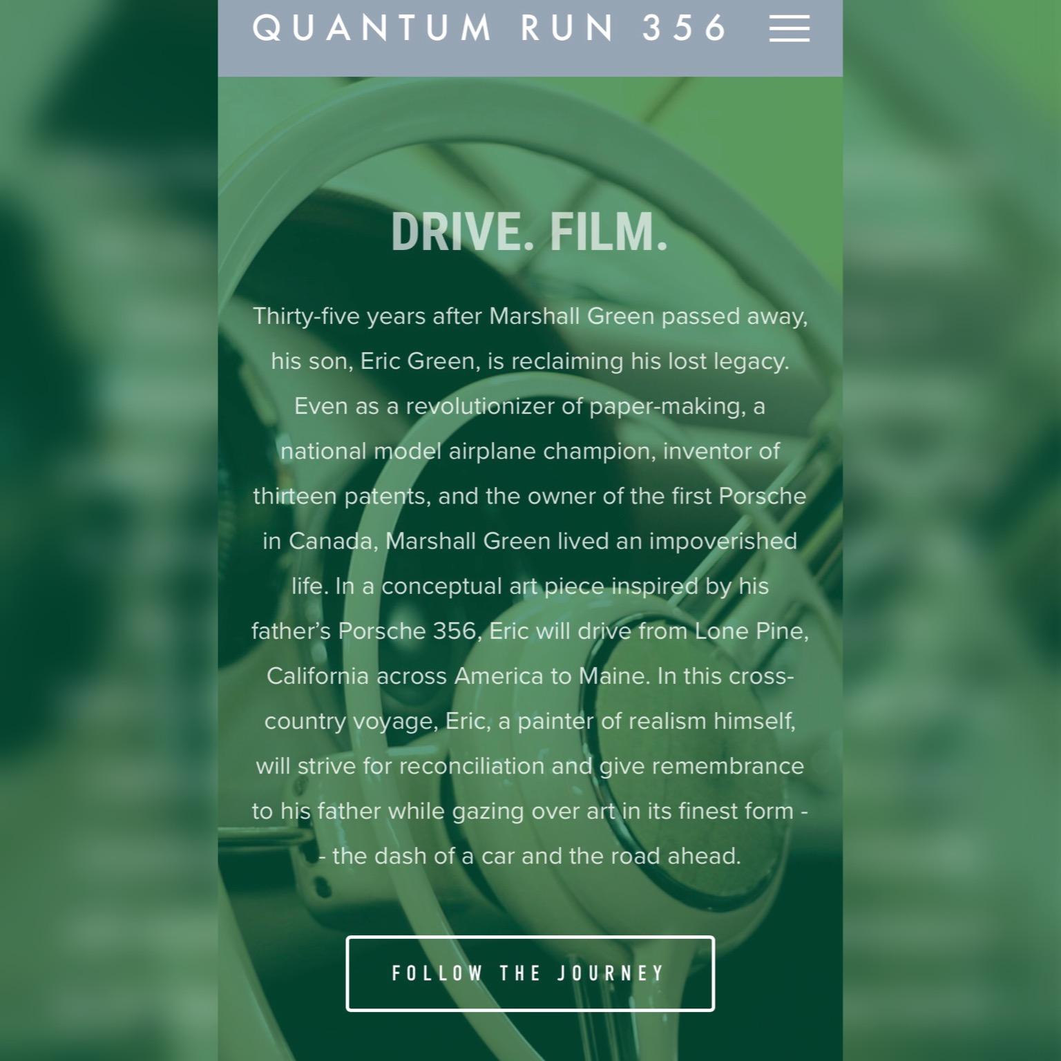 website copy writing: quantum run 356 documentary film