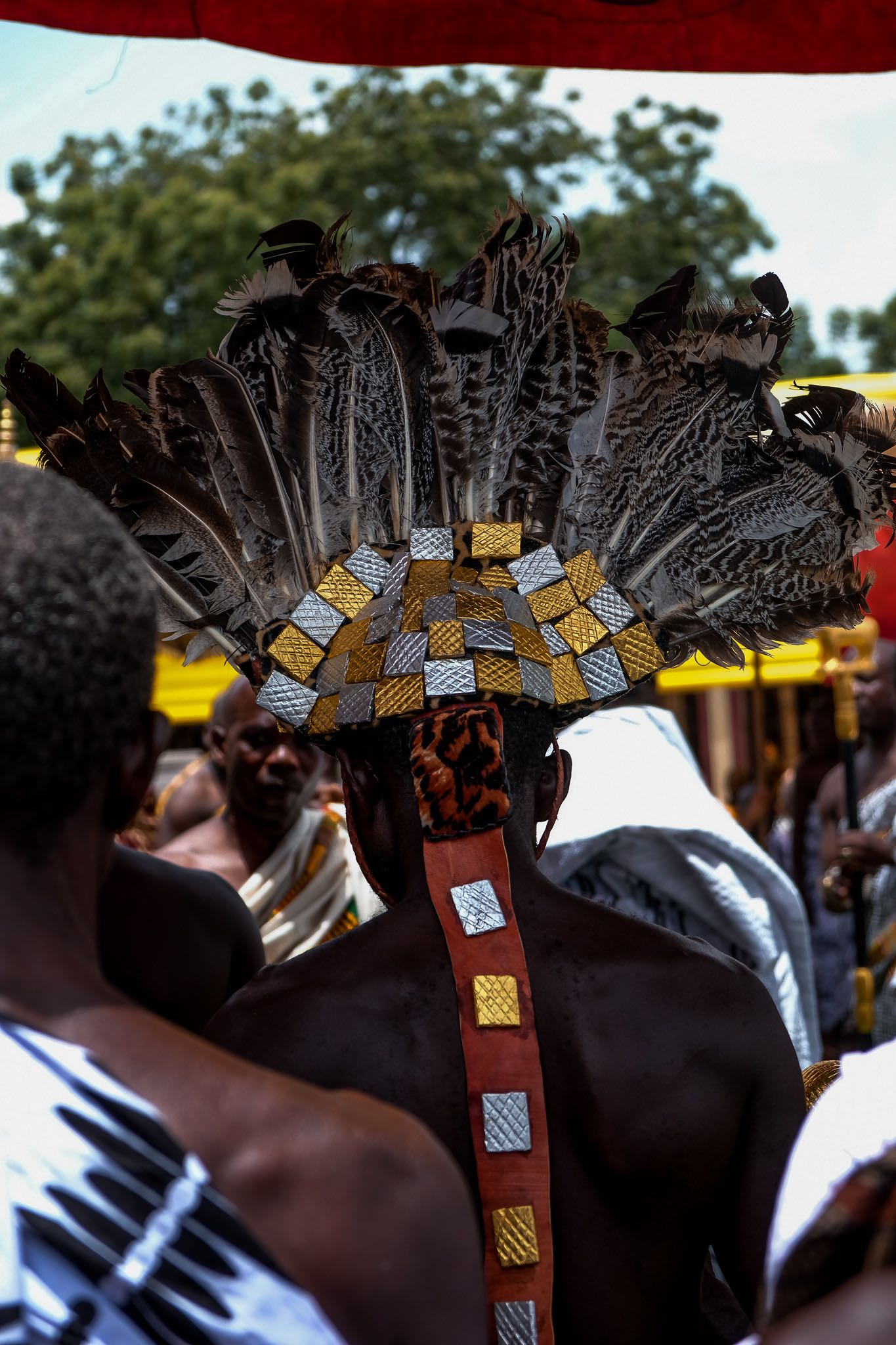Hair and headwear at Akwasidae -