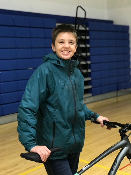 """""""There isn't anything I don't like about riding a bike"""" shared Kaleb, """"but the best part of the morning ride is feeling the breeze on my face."""""""