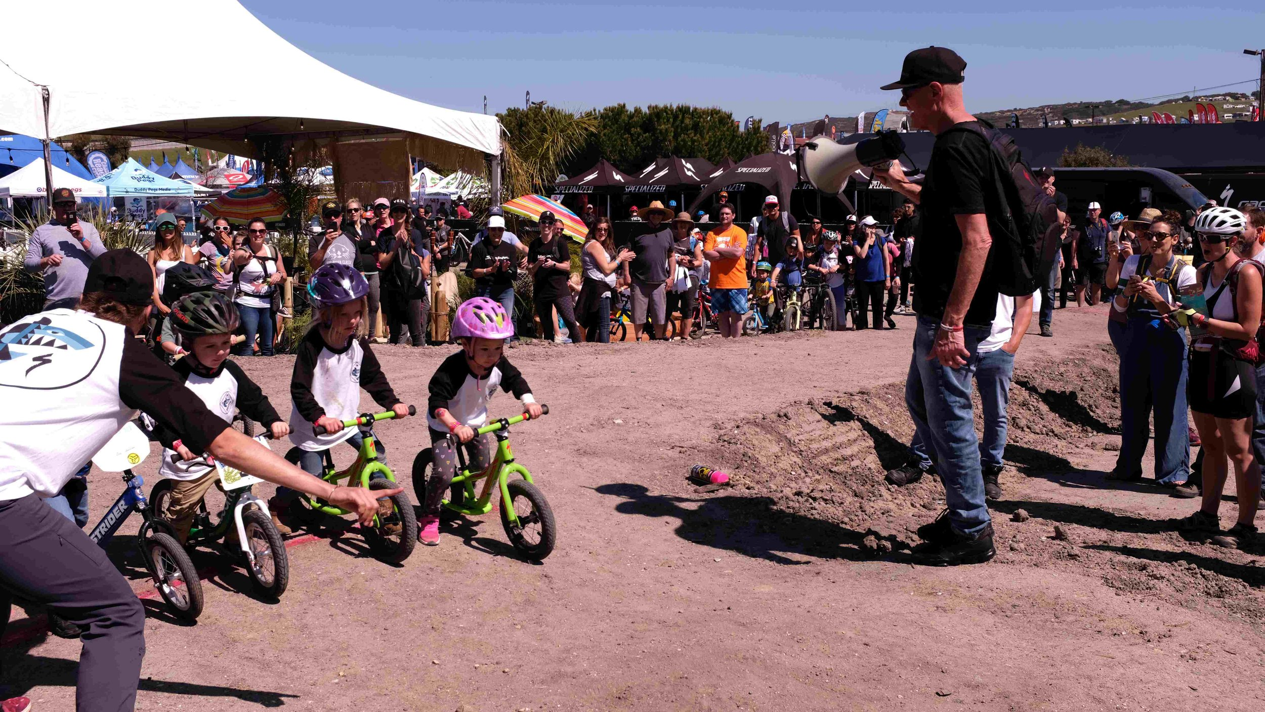 Mike Sinyard, Founder and President of Specialized Calling the Kids Race and Spotting Future Talent!