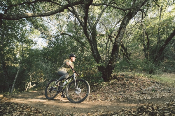 Riding the perfect rad trail after a hard days work--well worth it.  photo credit:Colin Belisle