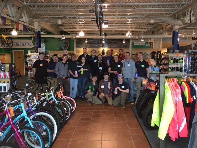 Mystic Cycle Centre Center Staff Takes a Bow Center Stage