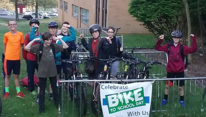 Students at South Middle School in Morgantown, West Virginia Celebrate National Bike Month and BIke to School Day