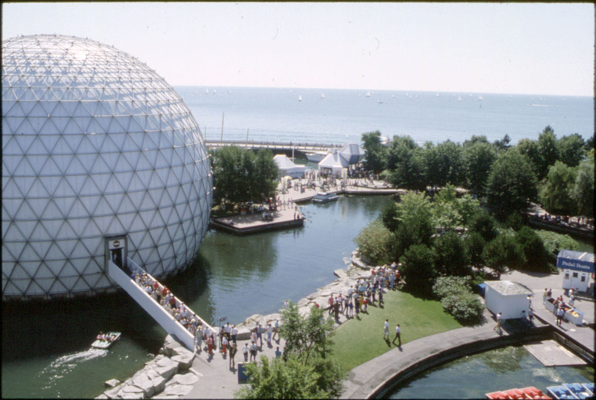 The Cinesphere at Ontario Place, circa 1970.  Courtesy of The Archives of Ontario