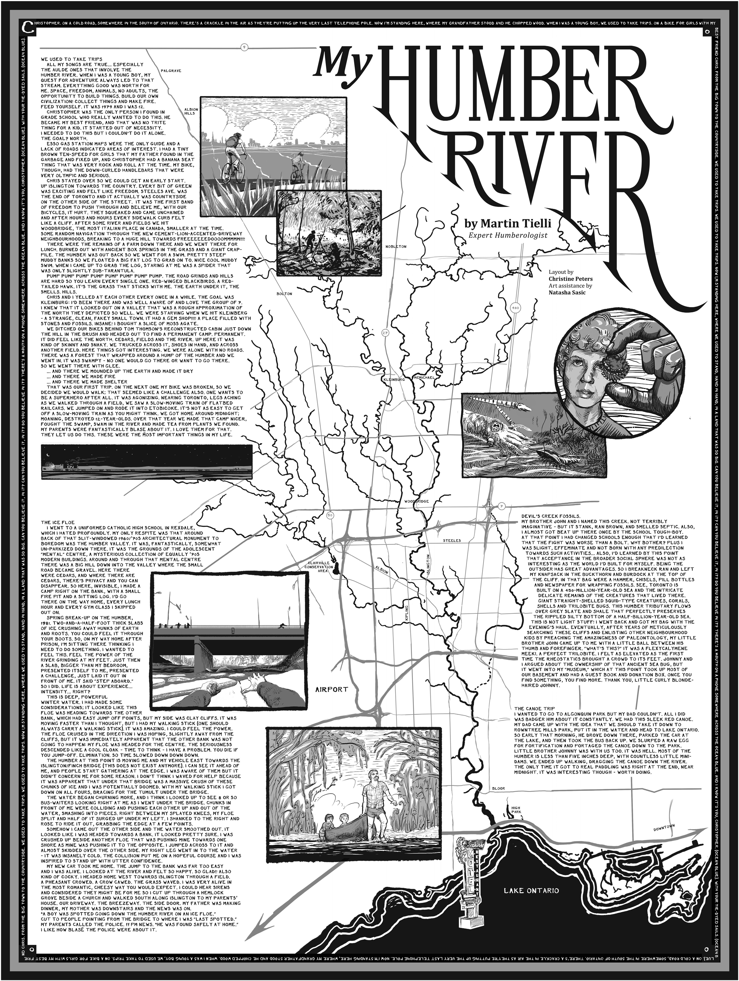 Humber River illustrated map & stories