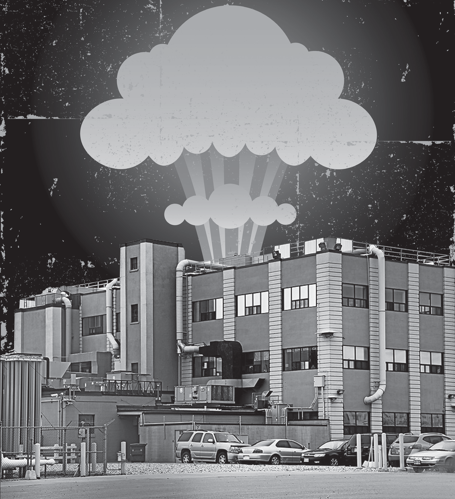 Nuclear cloud exploding from BWX Technologies facility