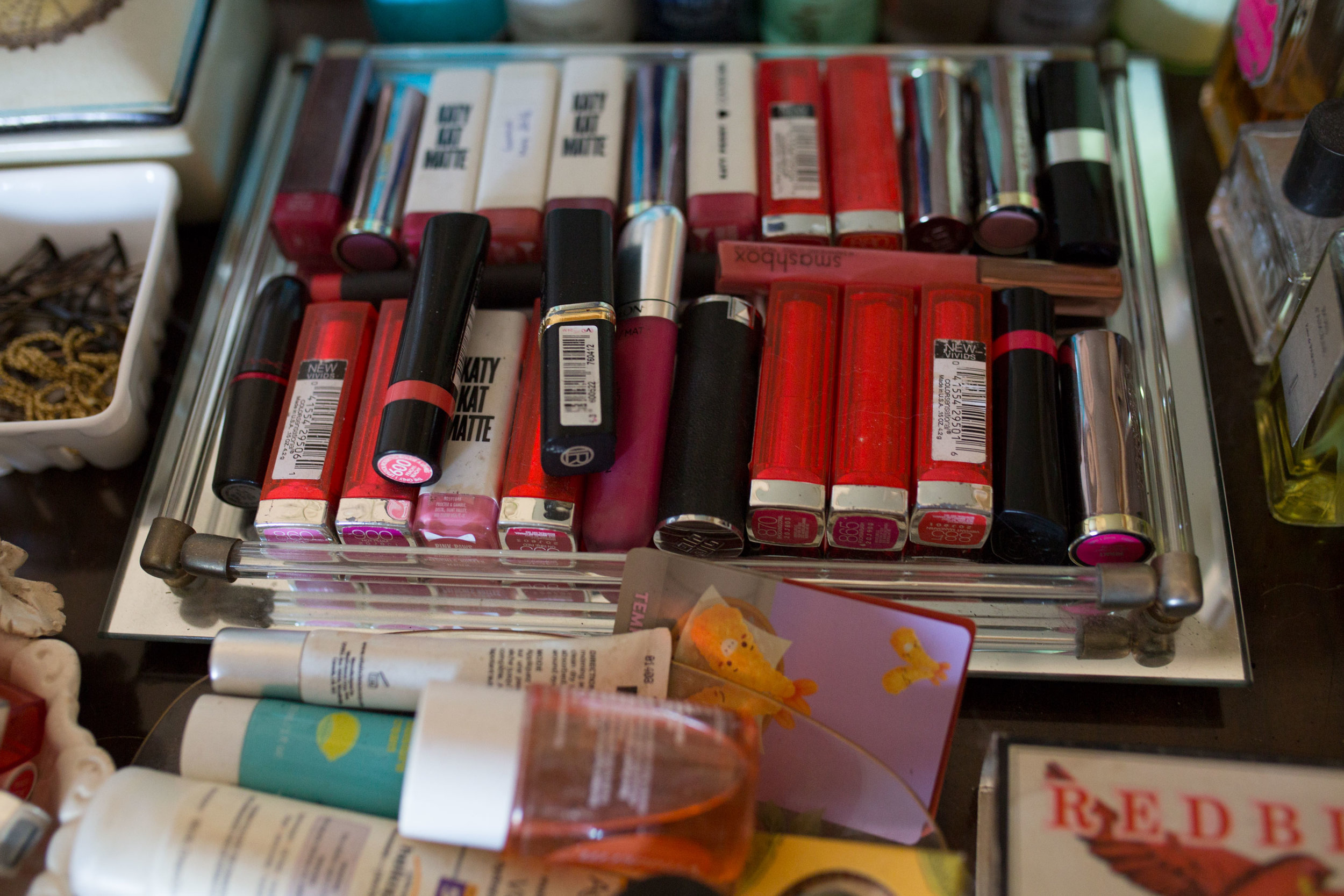 Some of the items in Briony's makeup collection