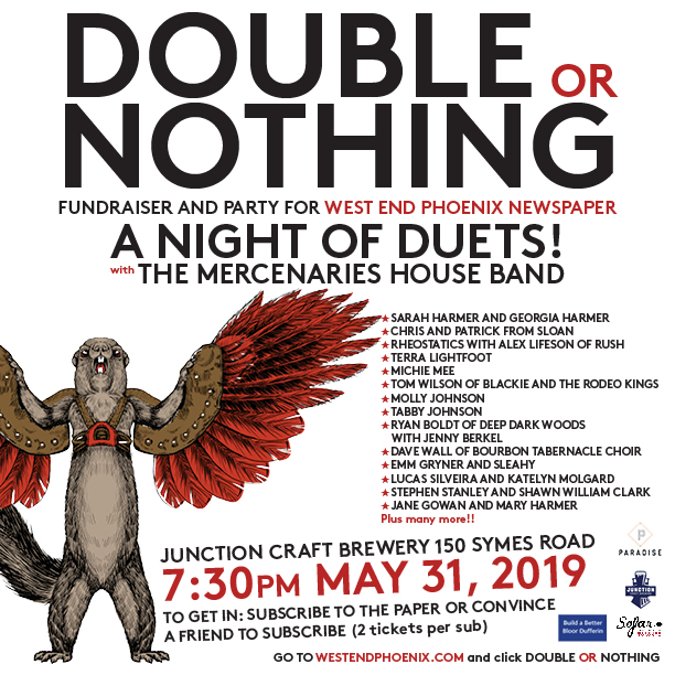 Double or Nothing Fundraiser 7:30pm May 31st