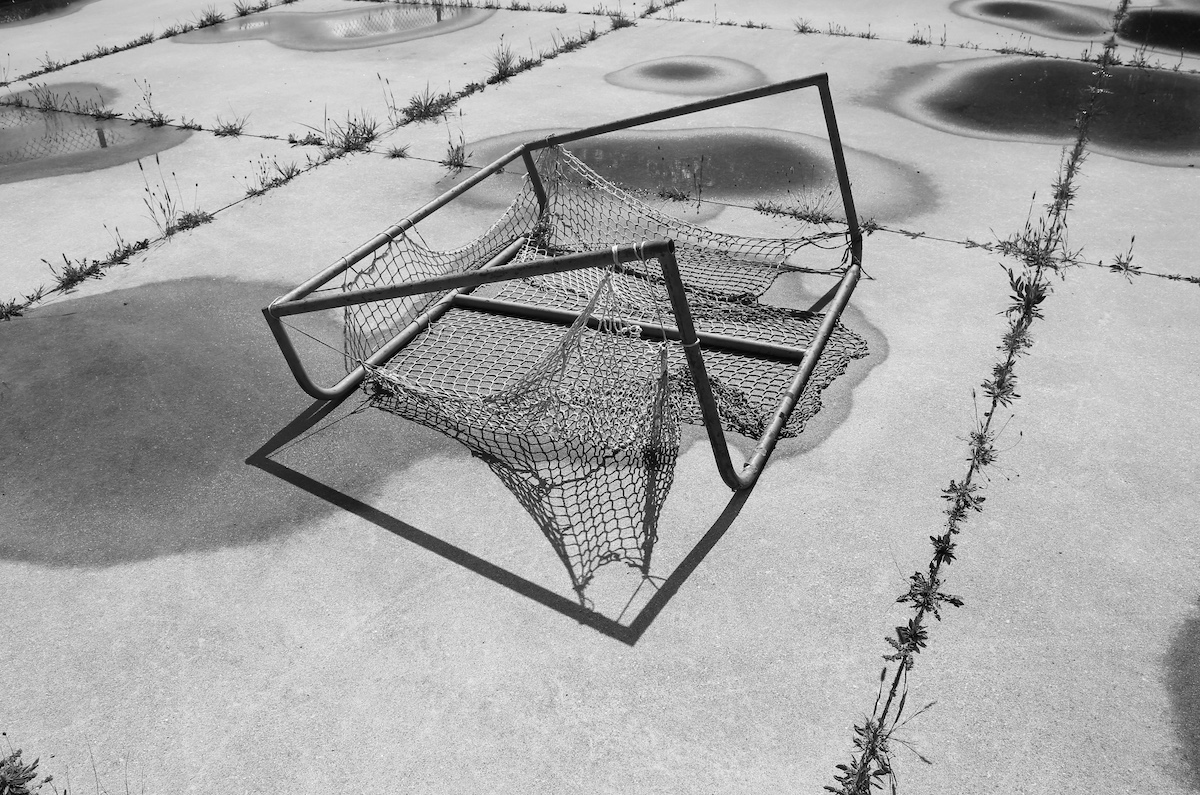 tipped over hockey net, Six Nations