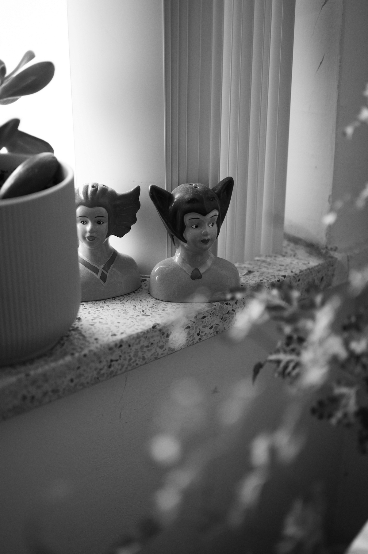 Figurines in Suzanne Carte's home