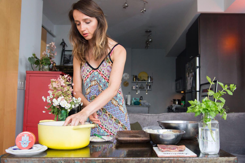 Ksenija Hotic in her kitchen