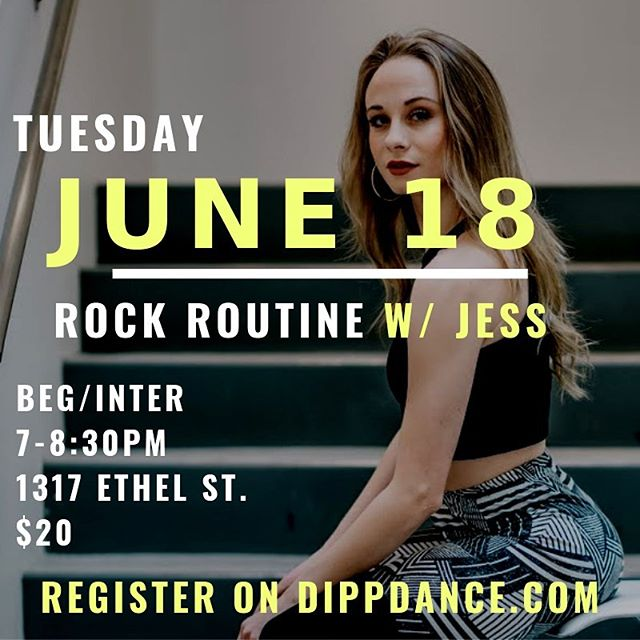 NEXT CLASS ➡️ JUNE 18TH . 🎶 class song —— Def Leppard - Pour Some Sugar On Me 🎶