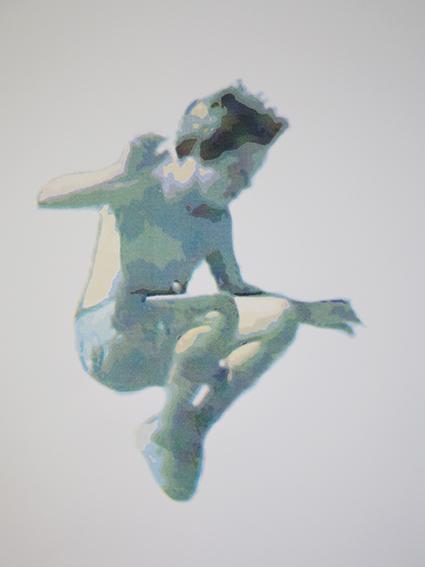 Erica Seccombe, Blue boy, 2015, screen print on paper, edition 6, 38 x 56 cm