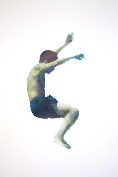 Erica Seccombe, Sleeper 2015, screen print on paper, edition 10, 38 x 56 cm