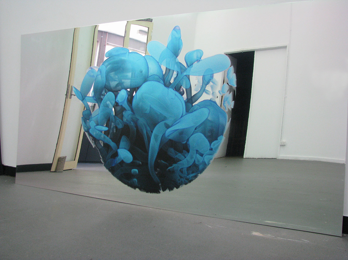 Erica Seccombe, Virtual Life , 2014, Solvent print on aluminium composite board, 1220 mm x 2400 mm. Winner inaugural Paramor Prize for Art + Innovation, 2015 Casula Powerhouse Art Centre Liverpool NSW.