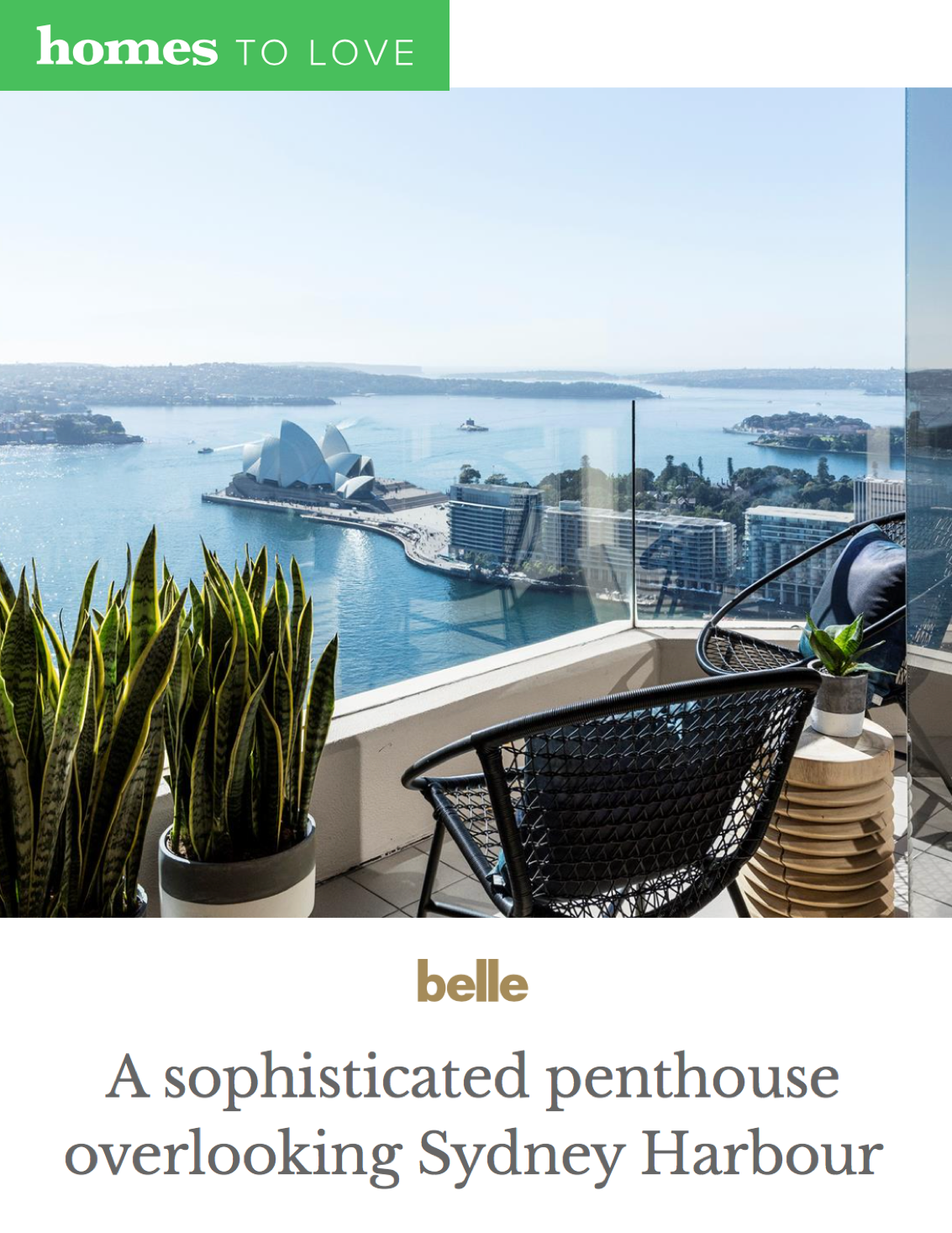HOMES TO LOVE  - January 2018  A Sophisticated Penthouse Overlooking Sydney Harbour
