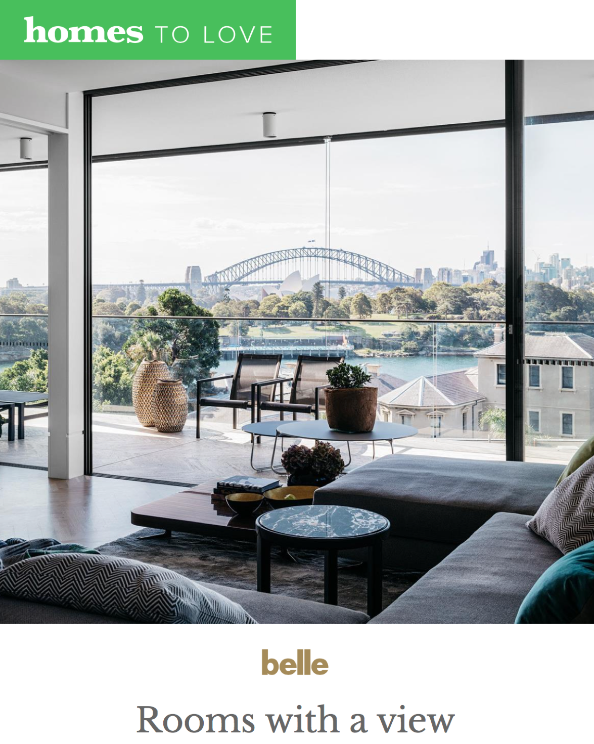 HOMES TO LOVE  - January 2018  Rooms with a View