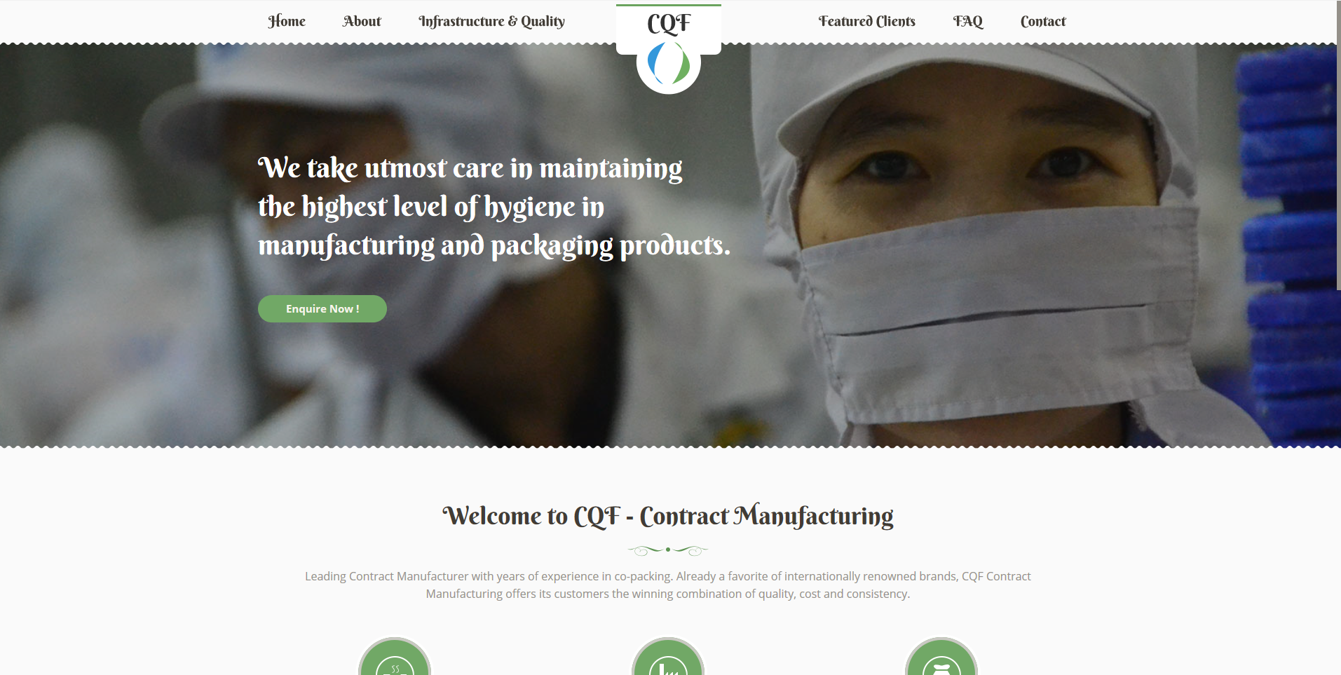 CQF - Contract Manufacturing - Decoded the website structure & created the content.#ContentWriting #ContentDesign