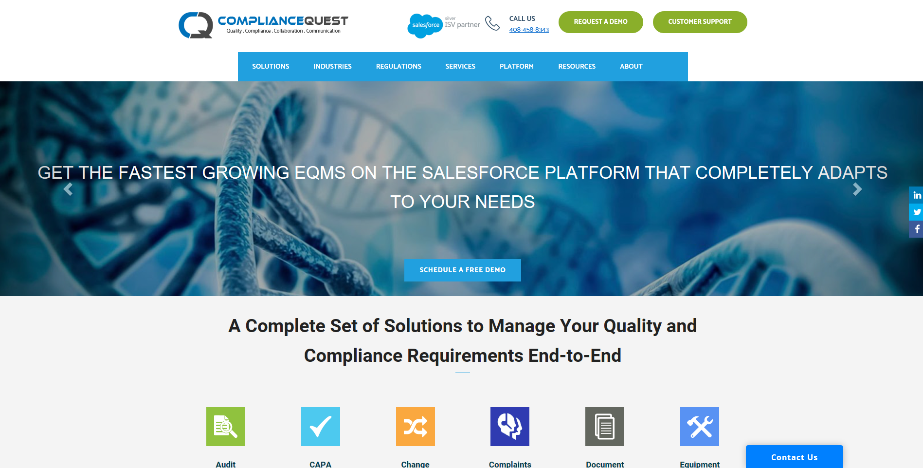 ComplianceQuest - Website - Worked on the Website Content Strategy to update the website. Created and updated the content.#ContentStrategy #ContentDesign