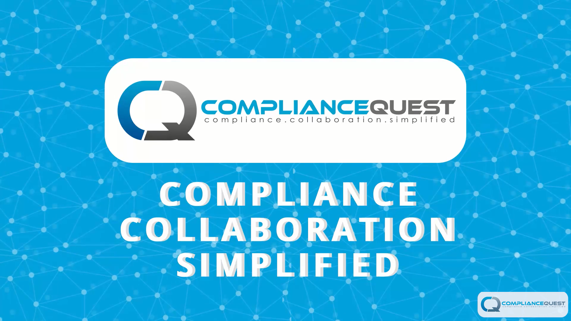 ComplianceQuest Introductory Video - Worked on the concept and script for this video. Coordinated closely with the agency to get all the details right.#Video #ContentStrategy #ContentDesign
