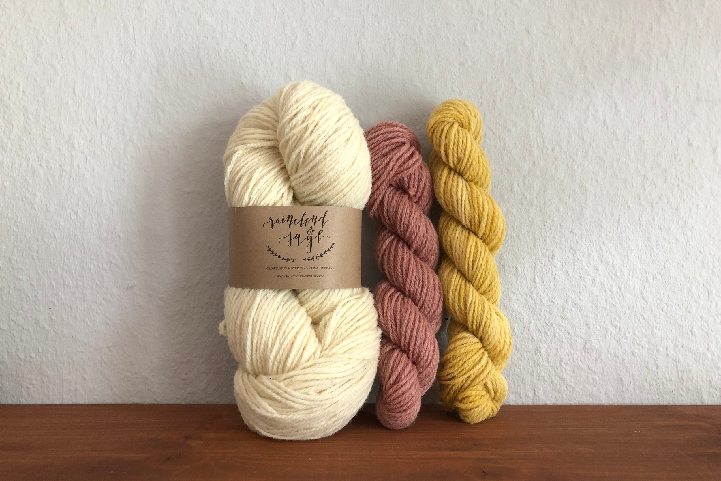 Our own non superwash, nylon free sock kits, available in our  shop .