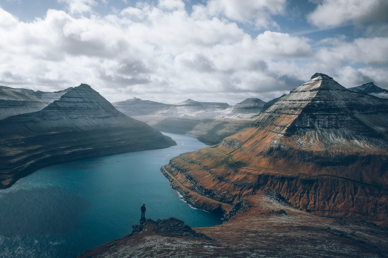 Taking in the view in Faroe Islands