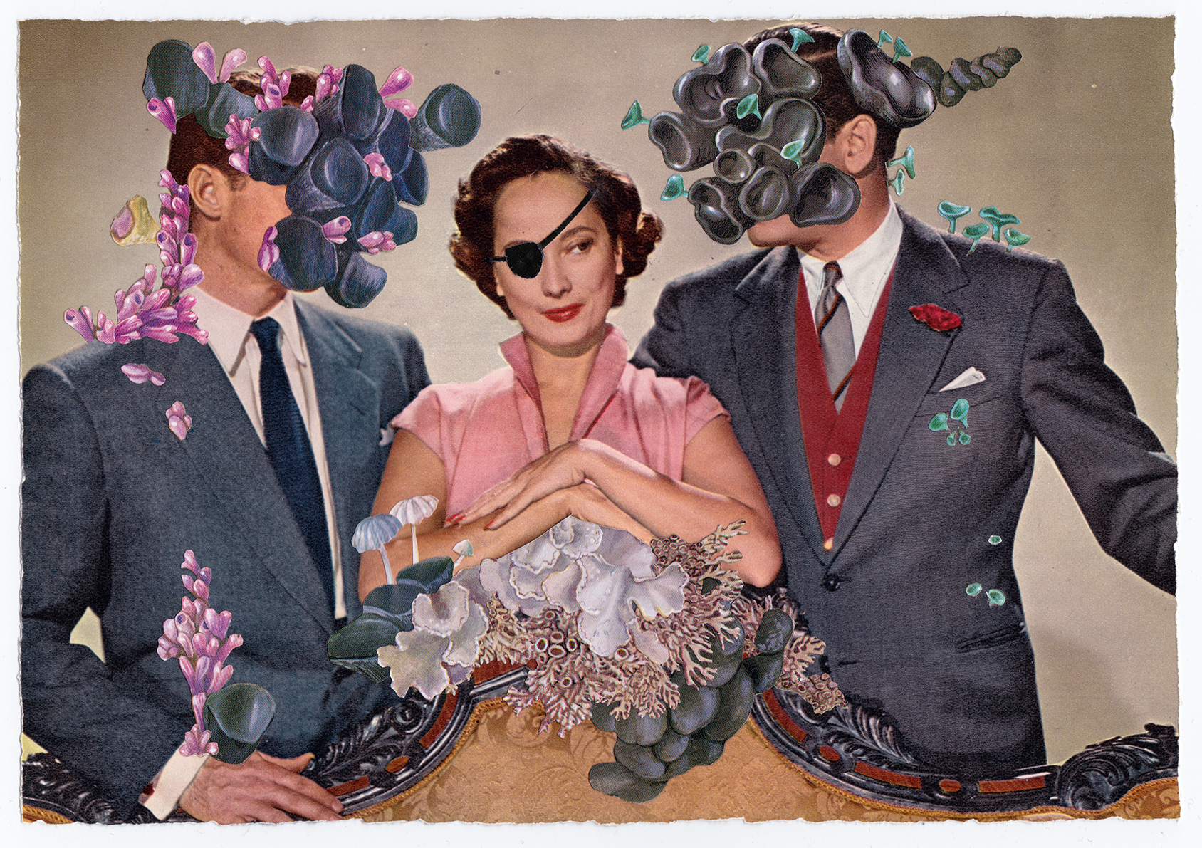 24 Hours of a Woman's Life   Original Collage, Vintage Magazine Page 39 x 34cm Sold