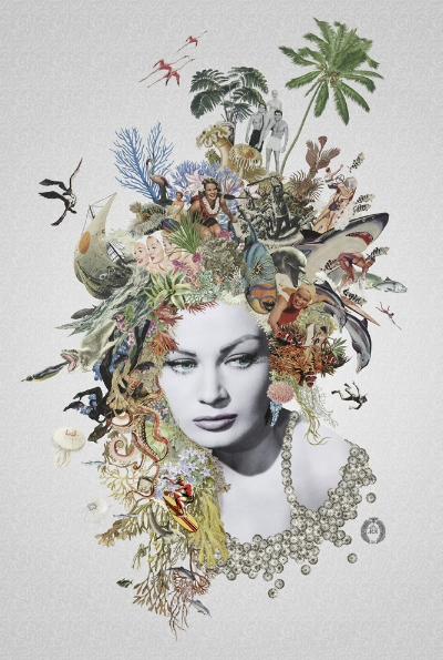 Marianne £500 Giclee and Screen Print with Iridescent Gold and Spot Varnish Limited edition of 60 70 x 100cm